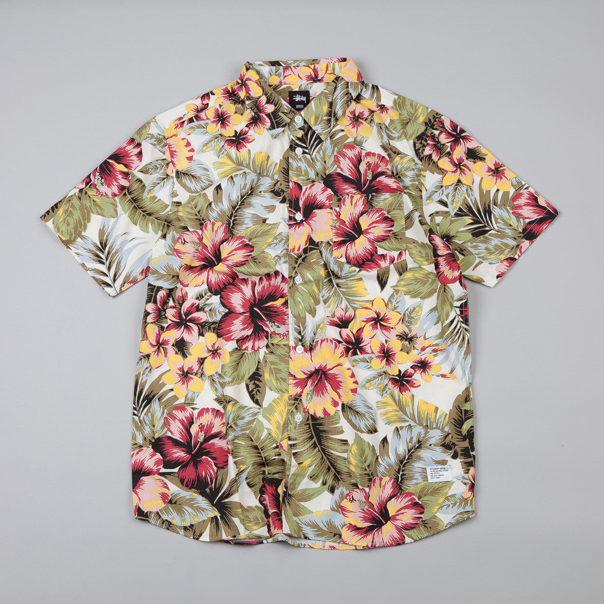 Stussy Island Flower SS Shirt Natural