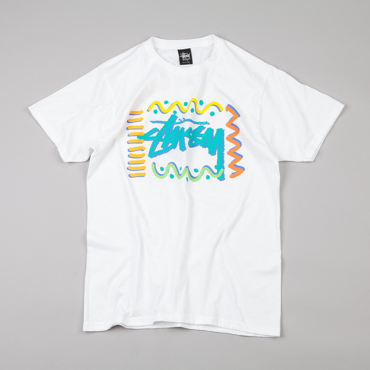 Stussy Squiggles T-shirt White