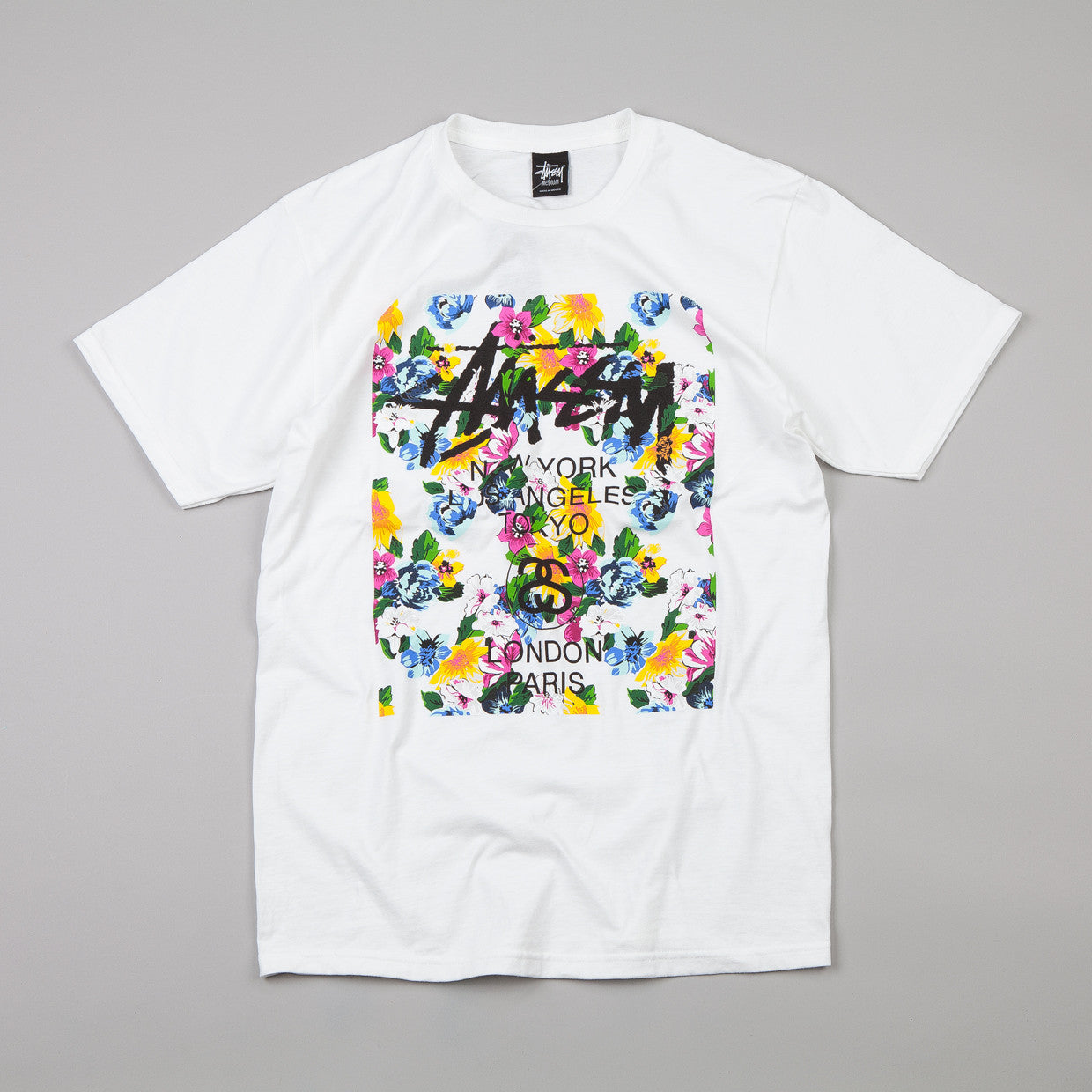 Stussy WT Flower Block T-shirt White