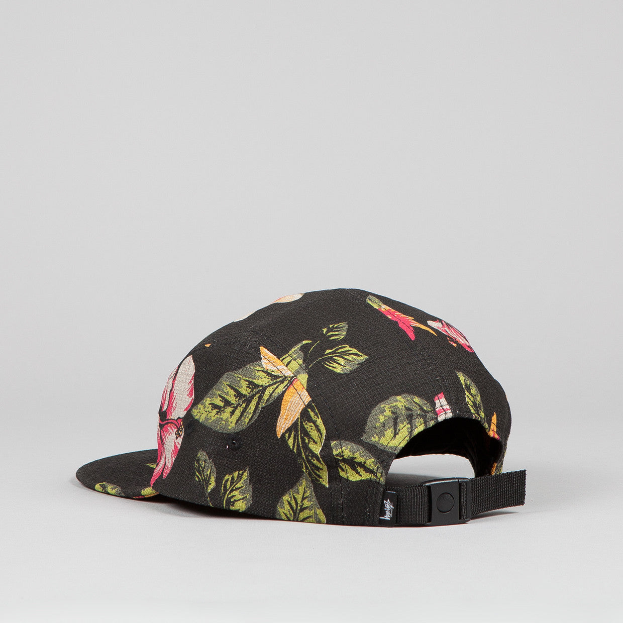 Stussy Vintage Flower Camp Cap Black