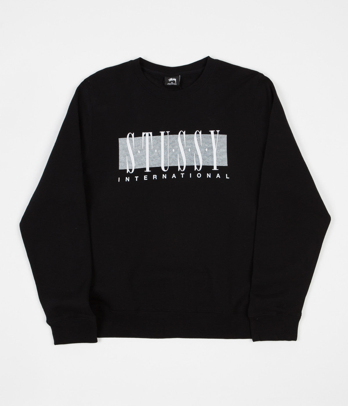 Stussy International Applique Crewneck Sweatshirt - Black