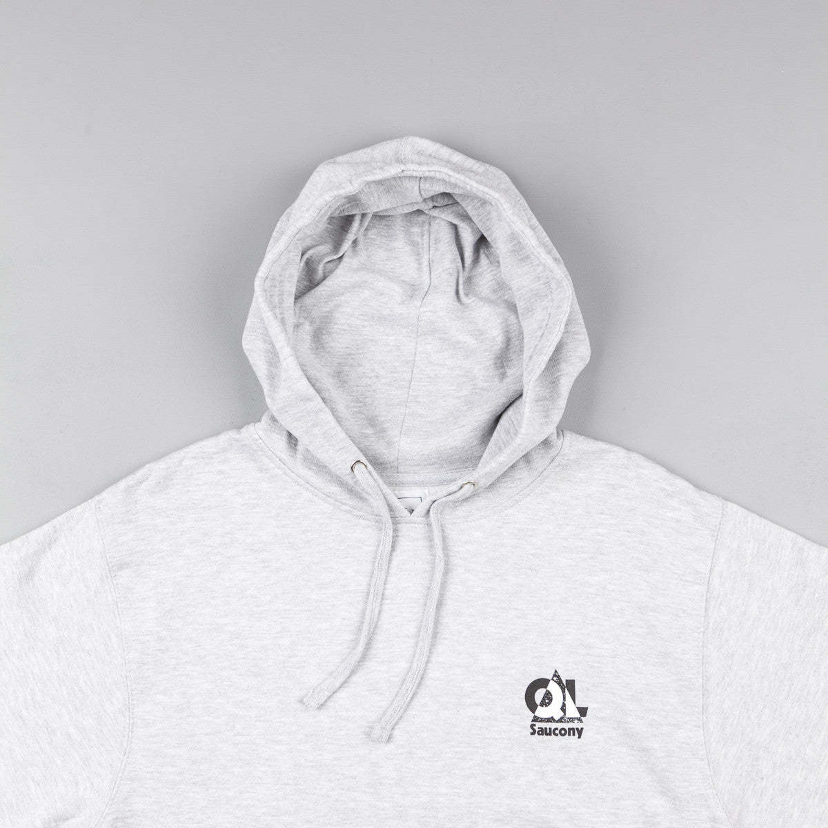The Quiet Life X Saucony Grid Pullover Hooded Sweatshirt - Ash Grey