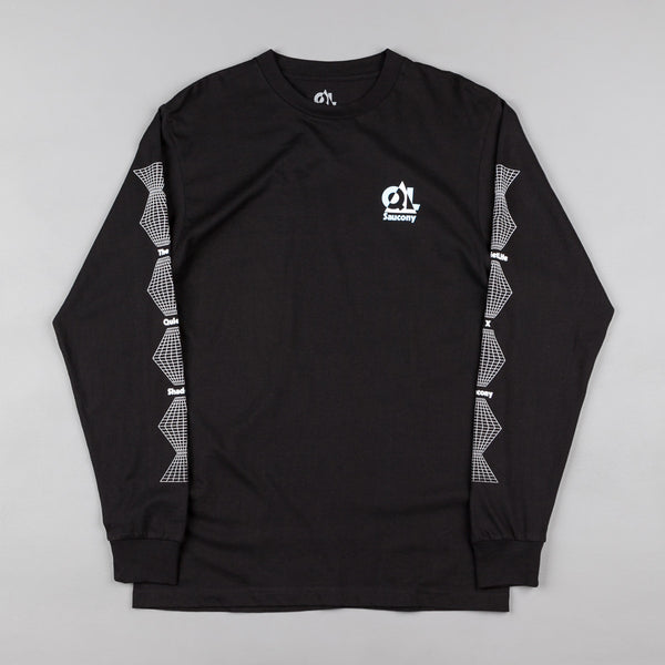 The Quiet Life X Saucony Grid Long Sleeve T-Shirt - Black