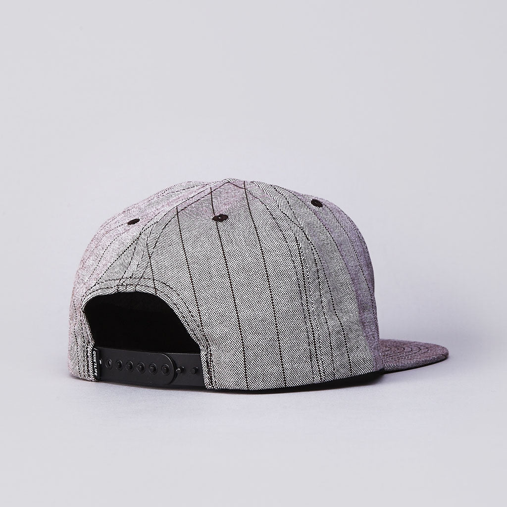 The Quiet Life Pinstripe Dart Snapback Cap Brown