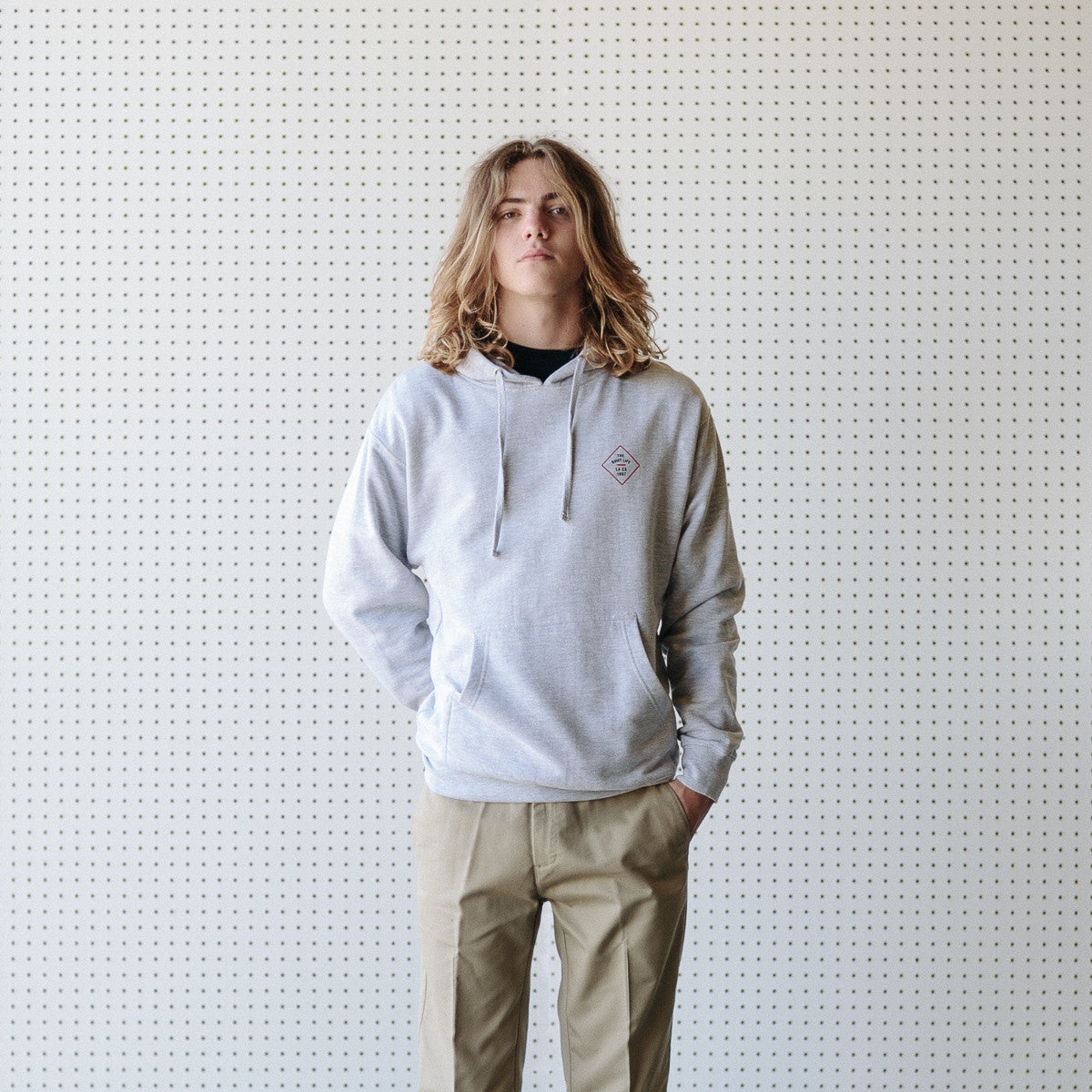 The Quiet Life Traveler Hooded Sweatshirt - Heather Grey