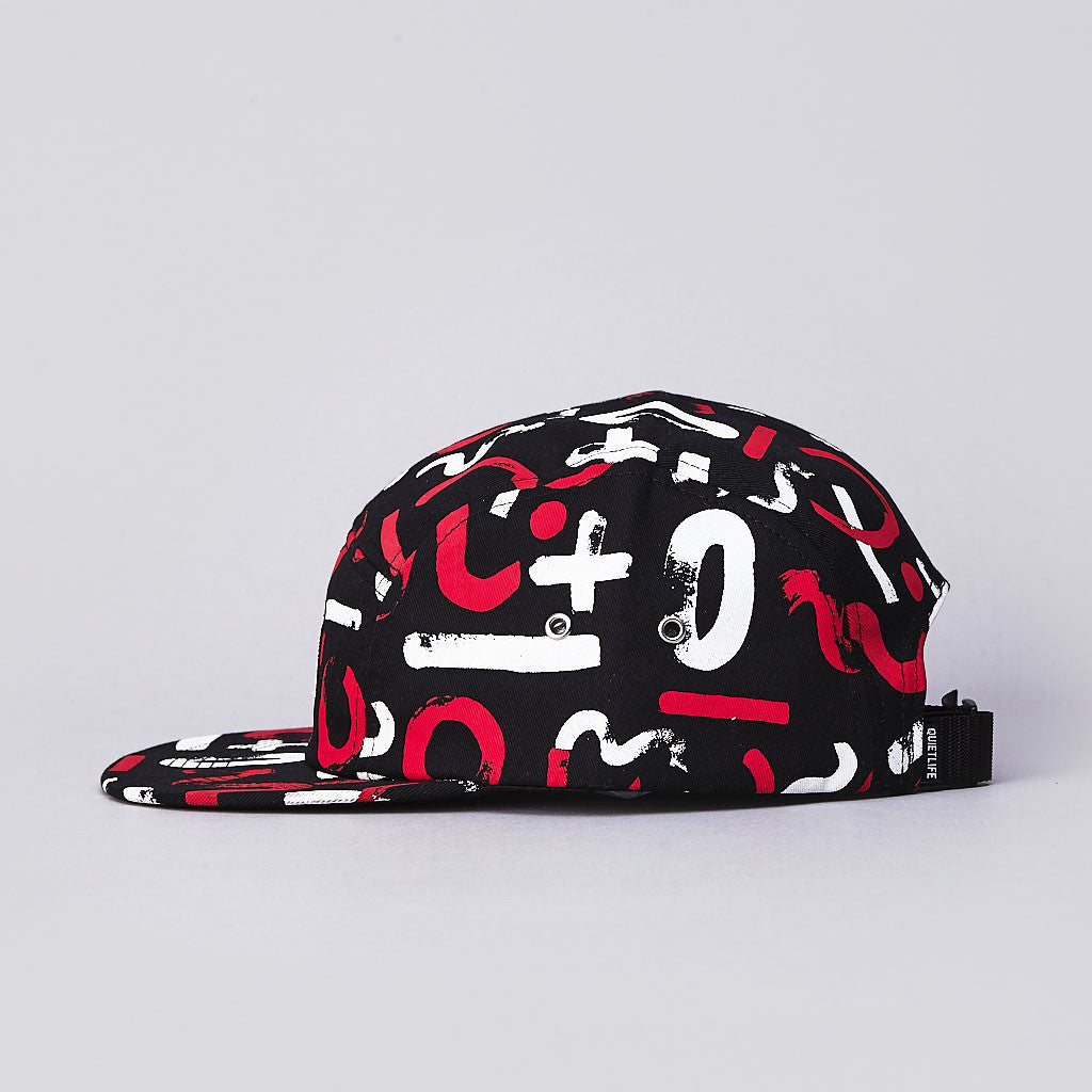 The Quiet Life Morin 5 Panel Cap Red / Black