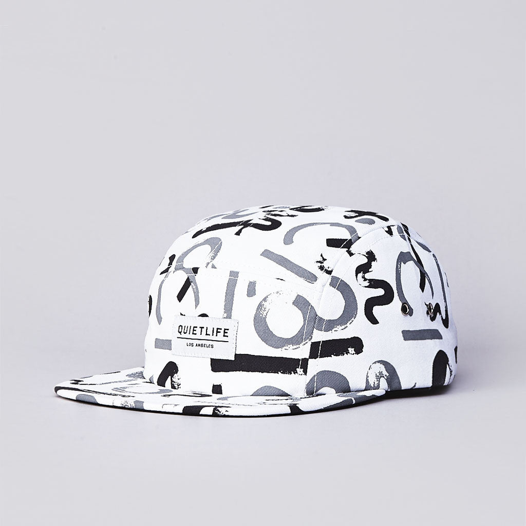 The Quiet Life Morin 5 Panel Cap White / Grey