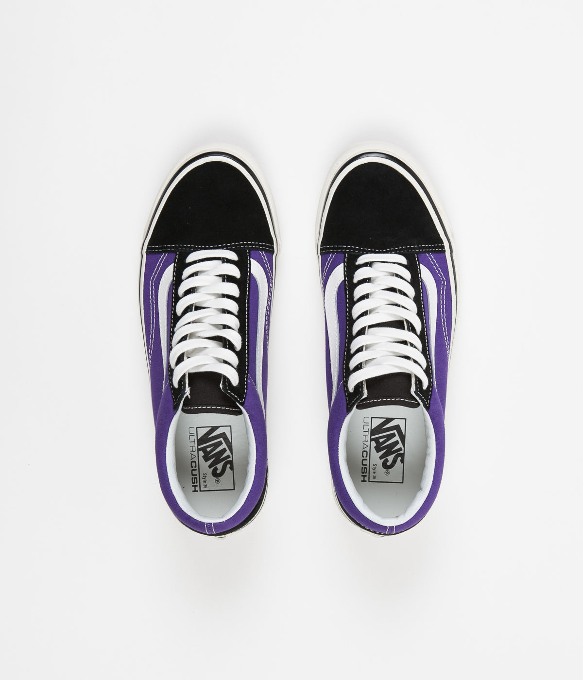 38d2e99431 Vans Old Skool 36 DX Anaheim Factory Shoes - Black   OG Bright Purple ...