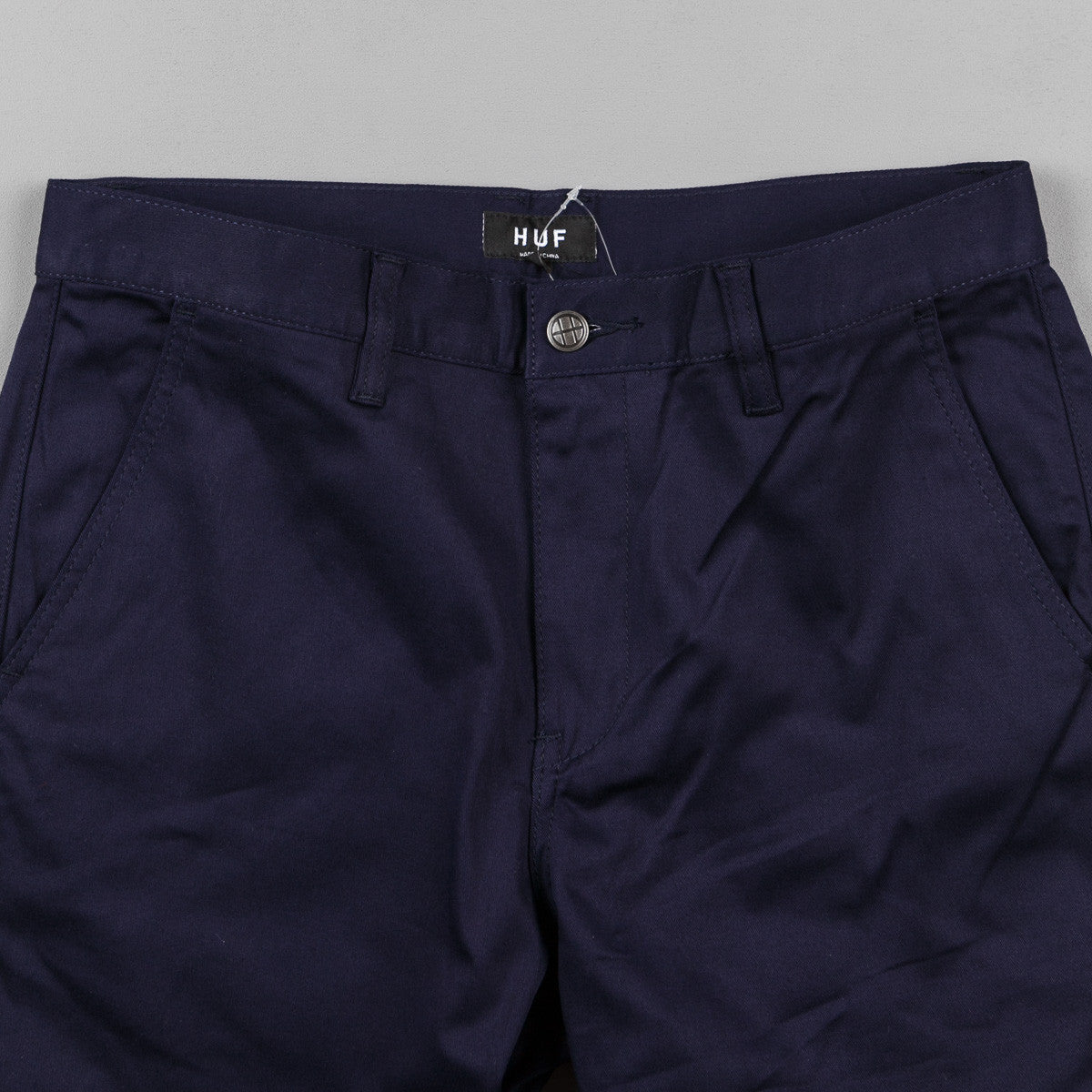 HUF Fulton Chino Trousers - Navy
