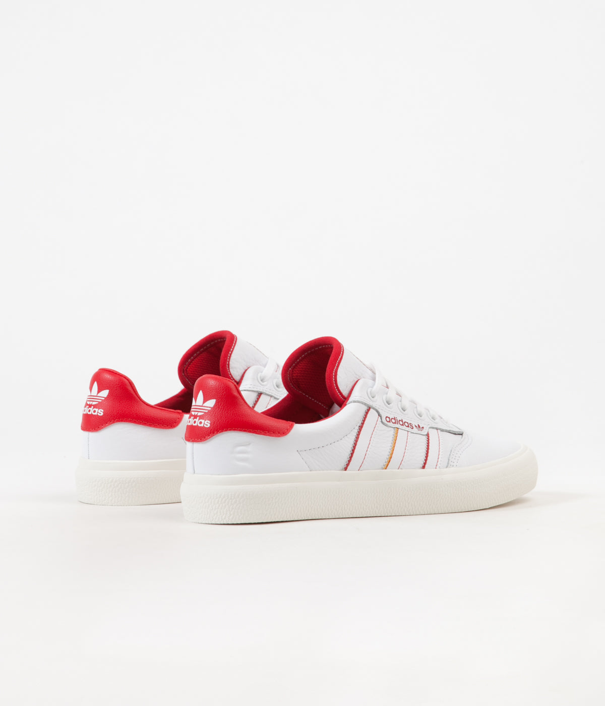 Estado trimestre Interesante  Adidas 3MC x Evisen Shoes - White / Scarlet / Gold Metallic | Flatspot