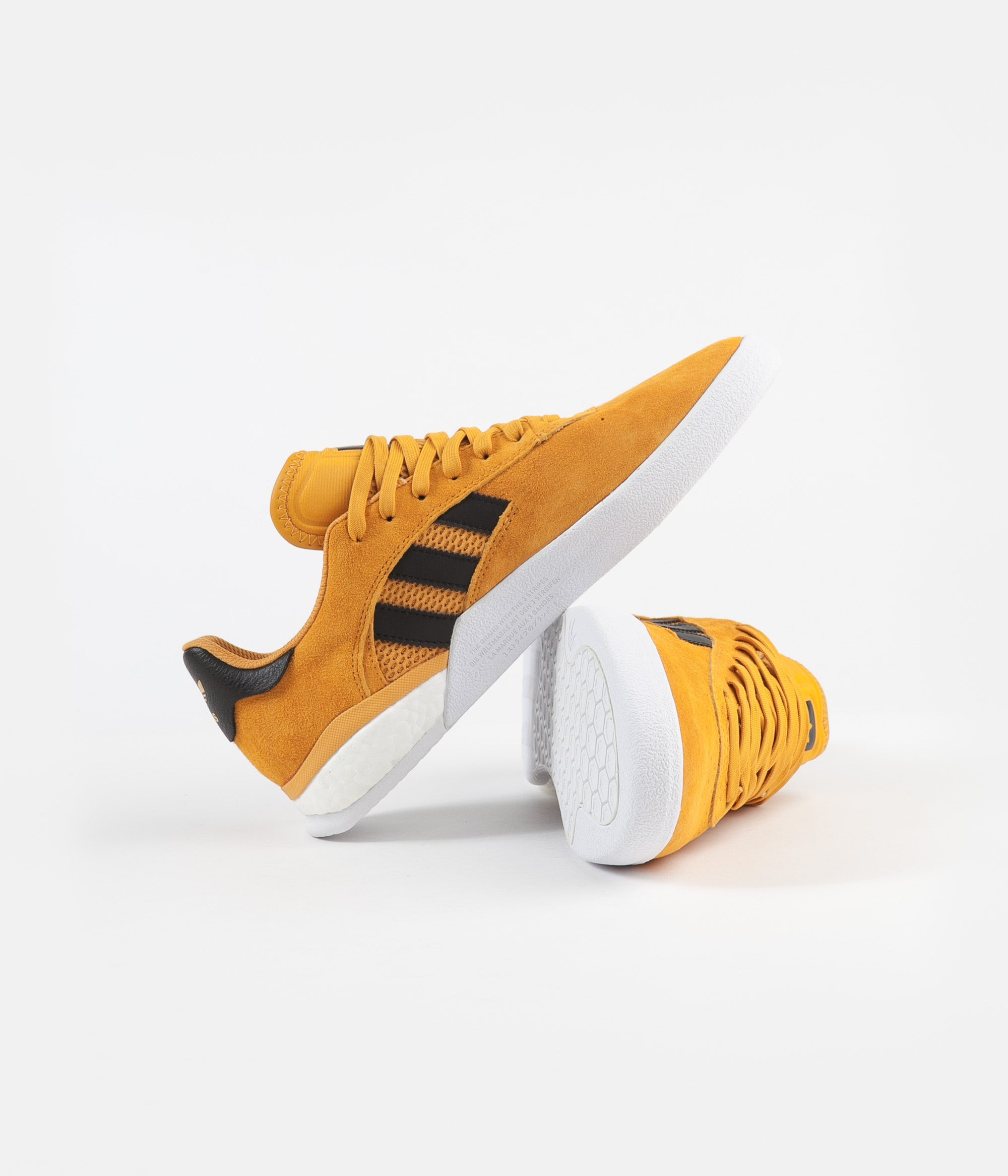 Adidas 3ST.004 'Miles Silvas' Shoes - Yellow / Core Black / Gold Metallic