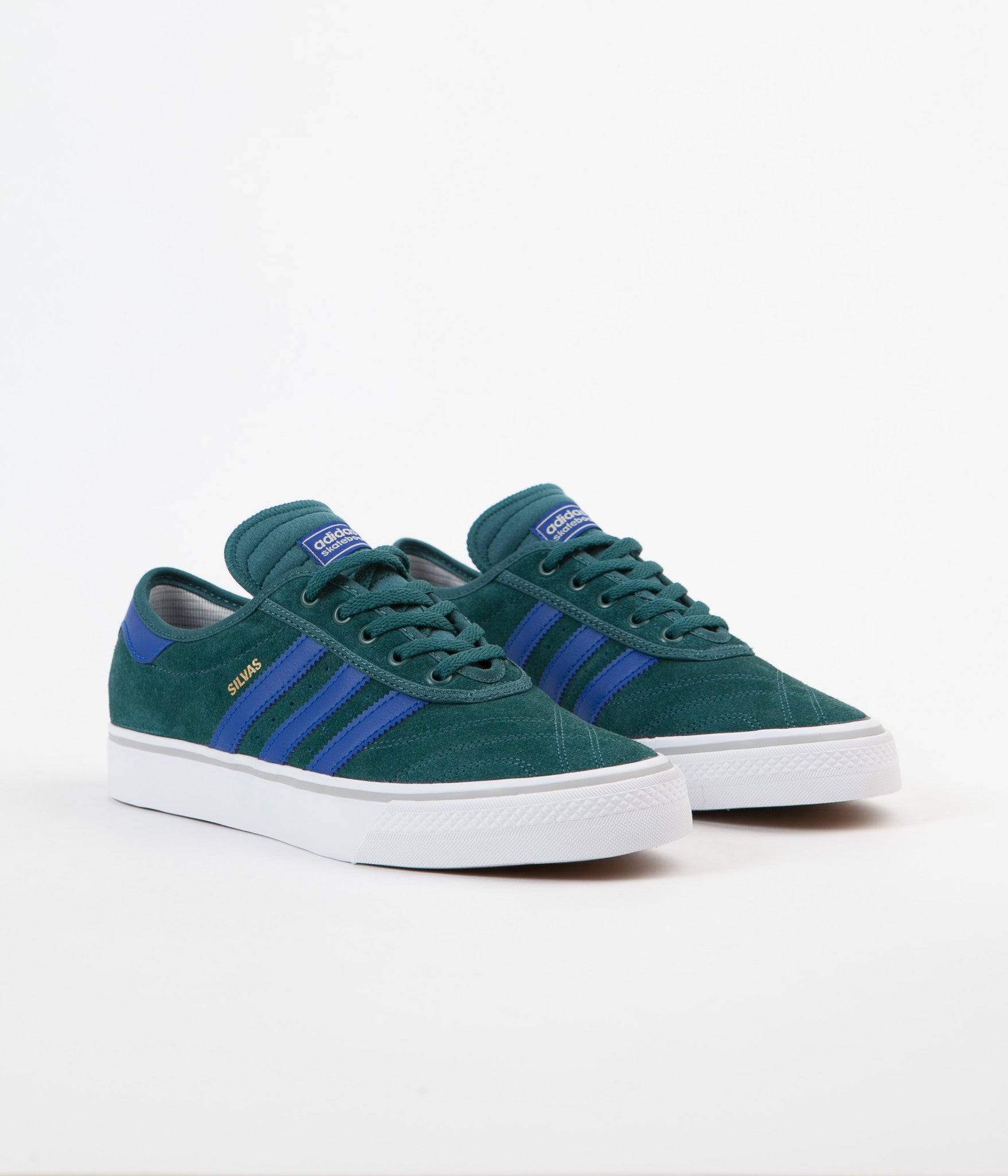Adidas Adi-Ease Miles Silvas Premiere Adv Shoes - Tech Green / Collegiate Royal / White