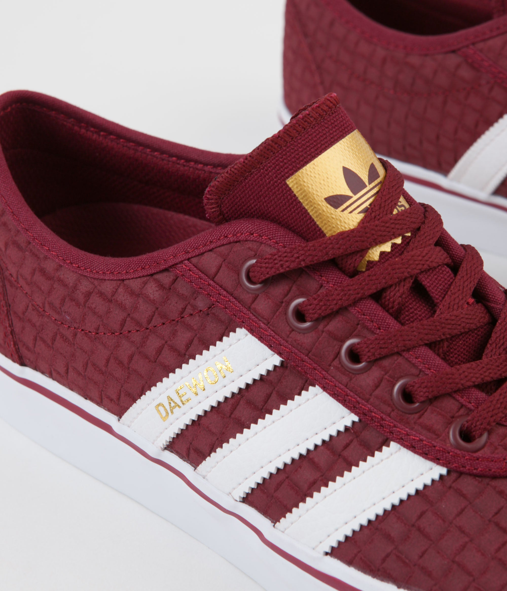 sale retailer fa6e5 c035e ... Adidas x Daewon Adi-Ease Shoes - Collegiate Burgundy   White   Gold  Metallic ...