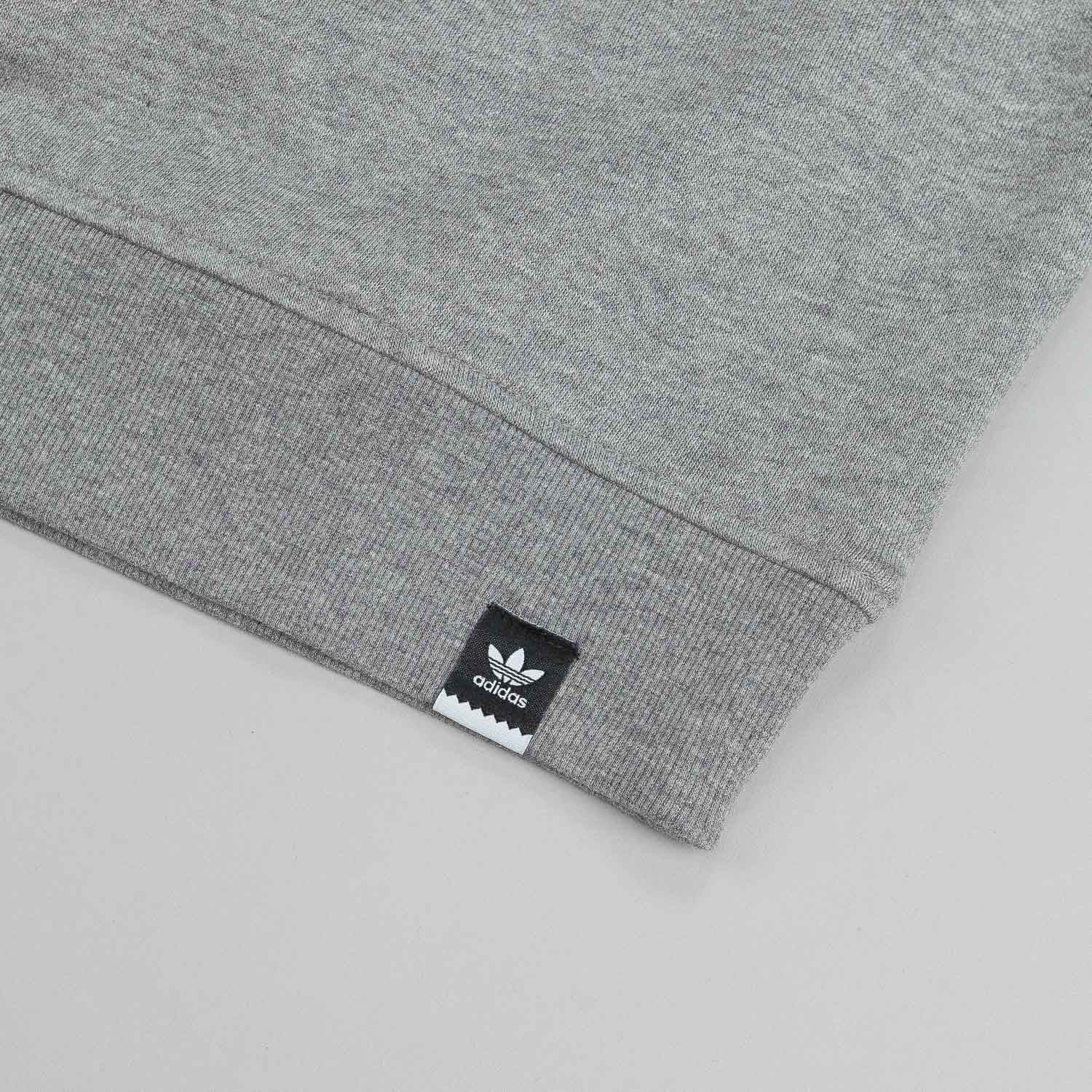 Adidas Adv 2.0 Logo Crew Neck Sweatshirt - Core Heather Grey
