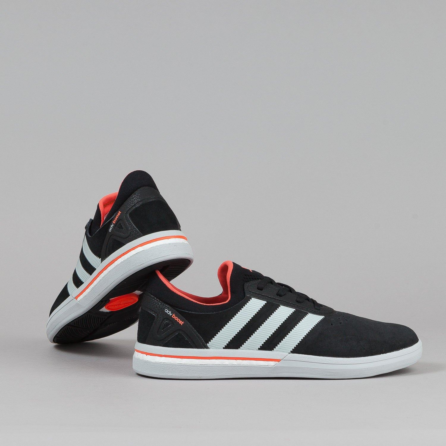 ... Adidas Adv Boost Shoes - Black / Grey / Red ...