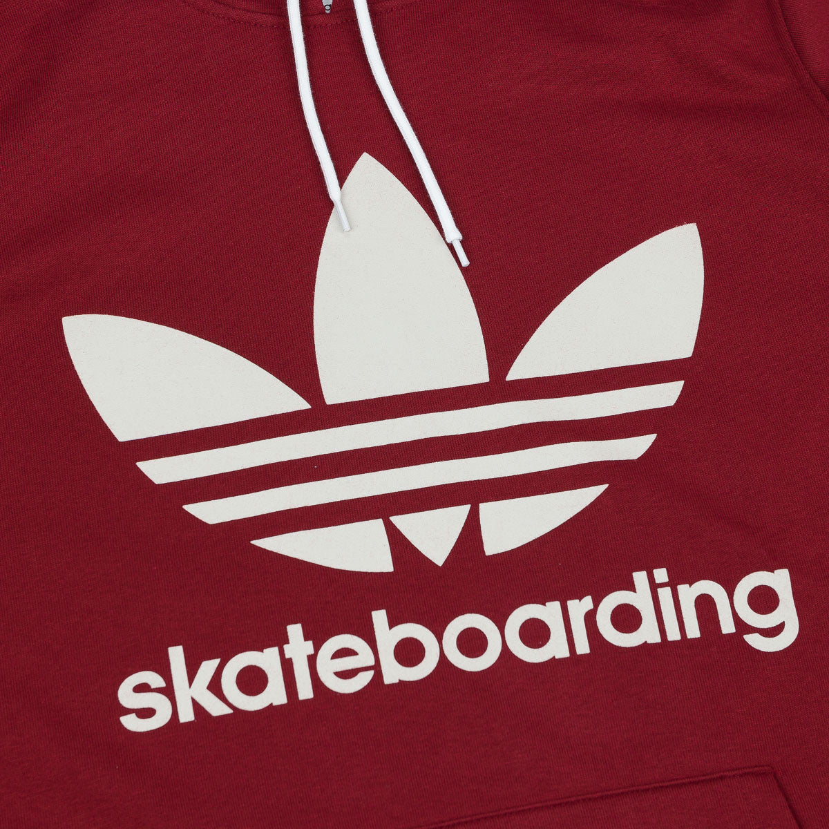 Adidas ADV Hooded Sweatshirt - Collegiate Burgundy / Mist Stone