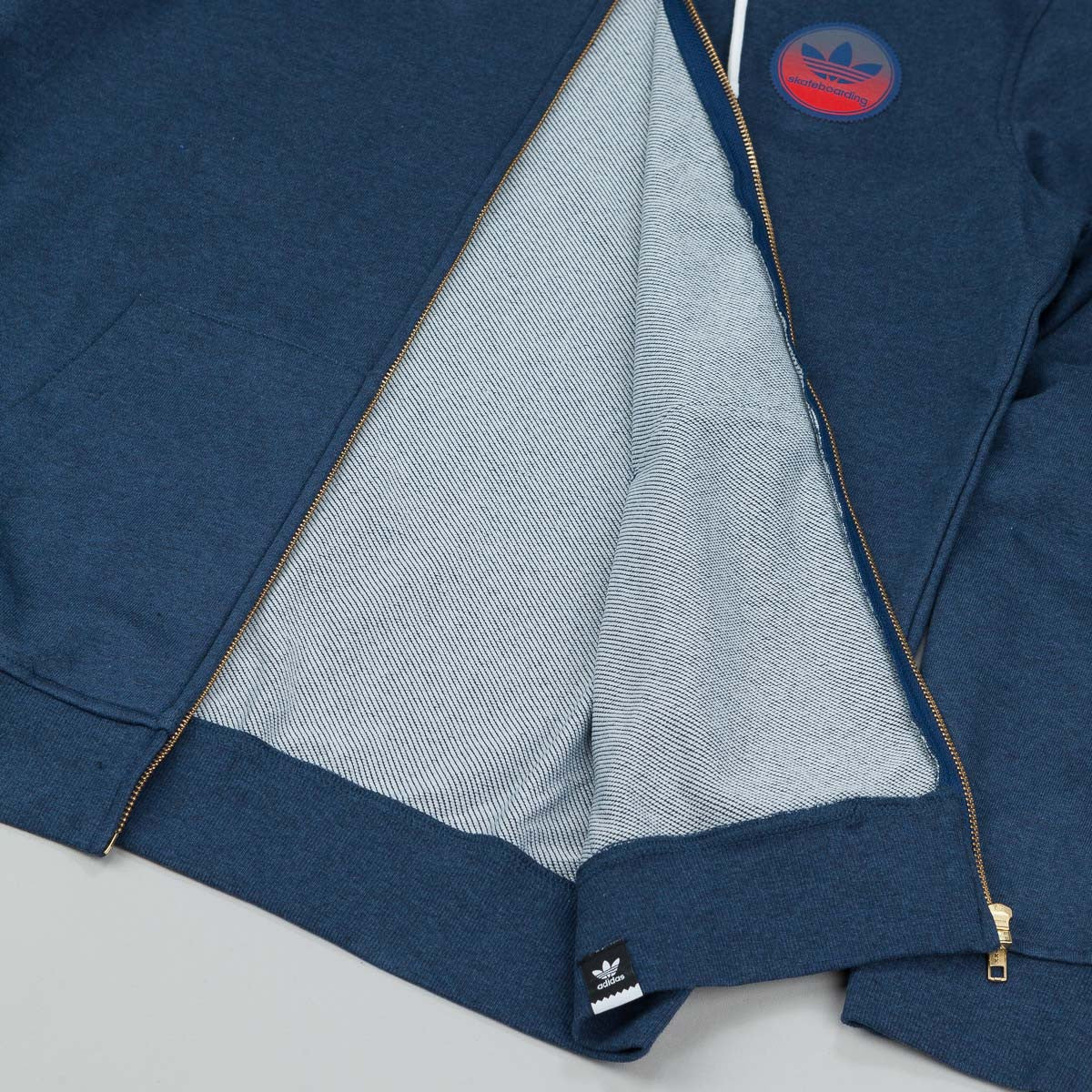 Adidas ADV Team Zip Hooded Sweatshirt - Oxford Blue