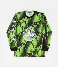 Adidas All Over Print Club Jersey - Solar Green / Black