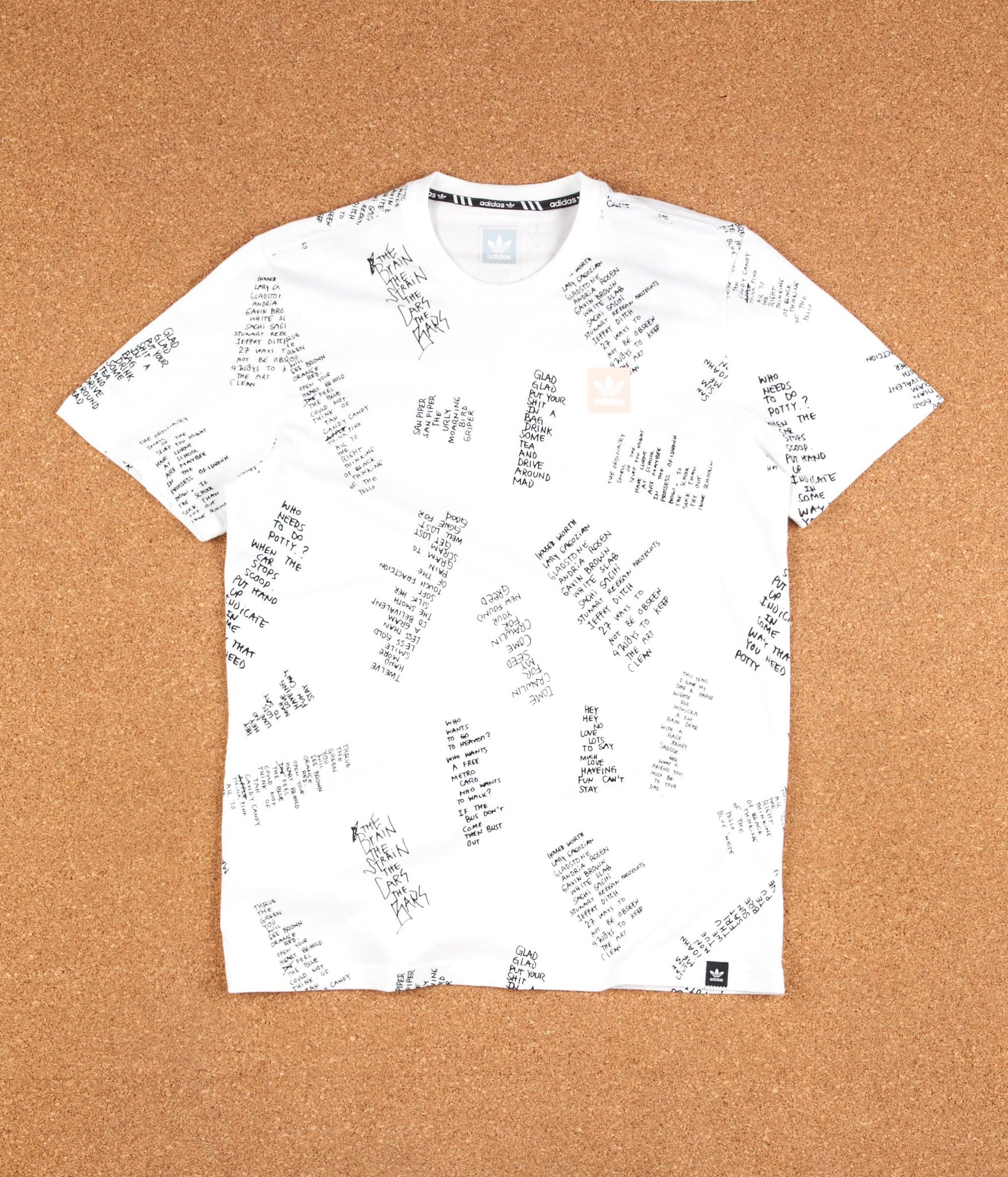 Adidas All Over Print Poet T-Shirt - White