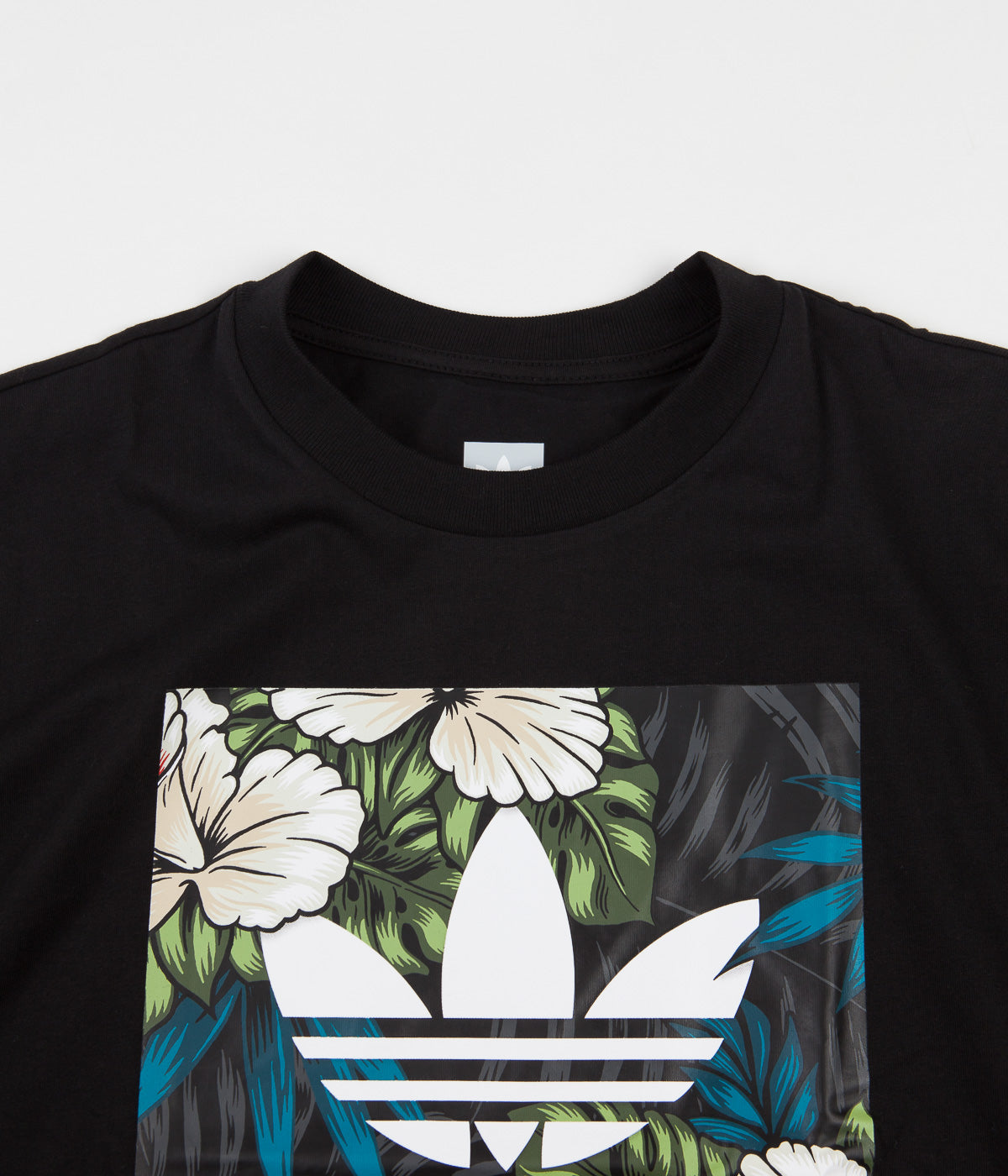 Adidas BB Floral Fill T-Shirt - Black / Multicolour