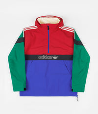 Adidas BB Snowbreaker Jacket - Bold Green / Power Red / Hi-Res Blue / Carbon