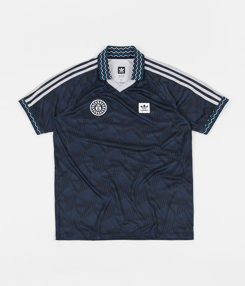 Adidas Bootleague Jersey - Black / Collegiate Navy / Active Teal / White