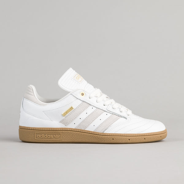 Adidas Busenitz 10 Year Anniversary Shoes - White / White / Metallic Gold
