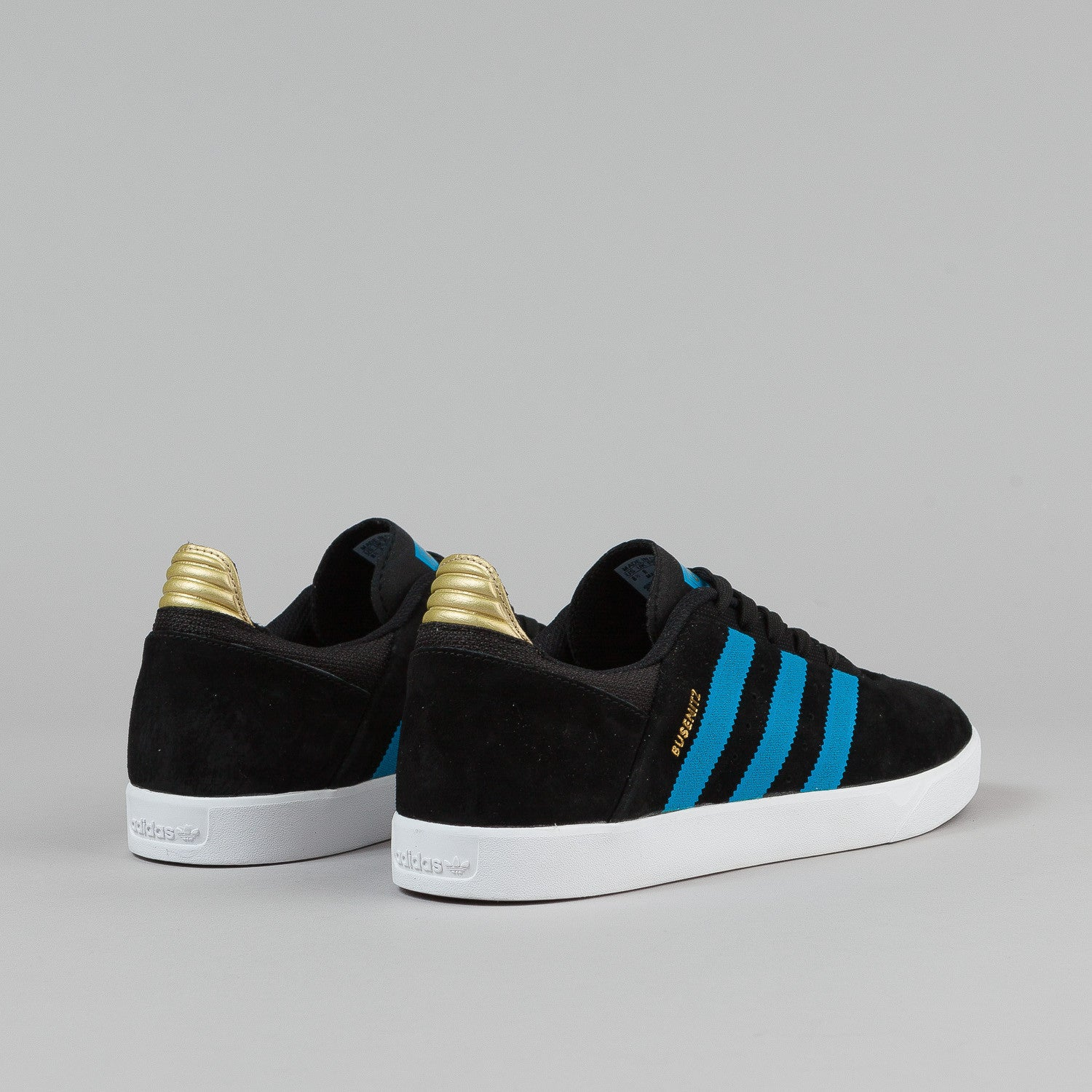 Adidas Busenitz Adv Shoes - Black / Solar Blue / Metallic Gold