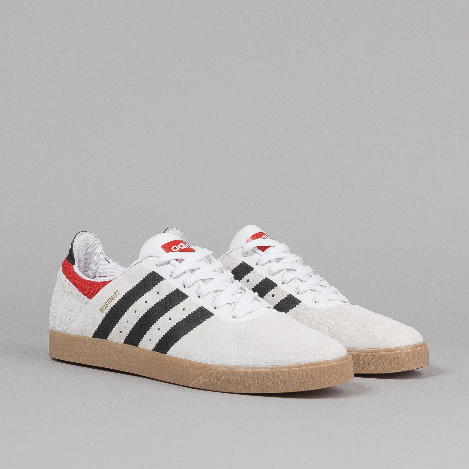 Adidas Busenitz Adv Shoes - Running White / Black / Brick