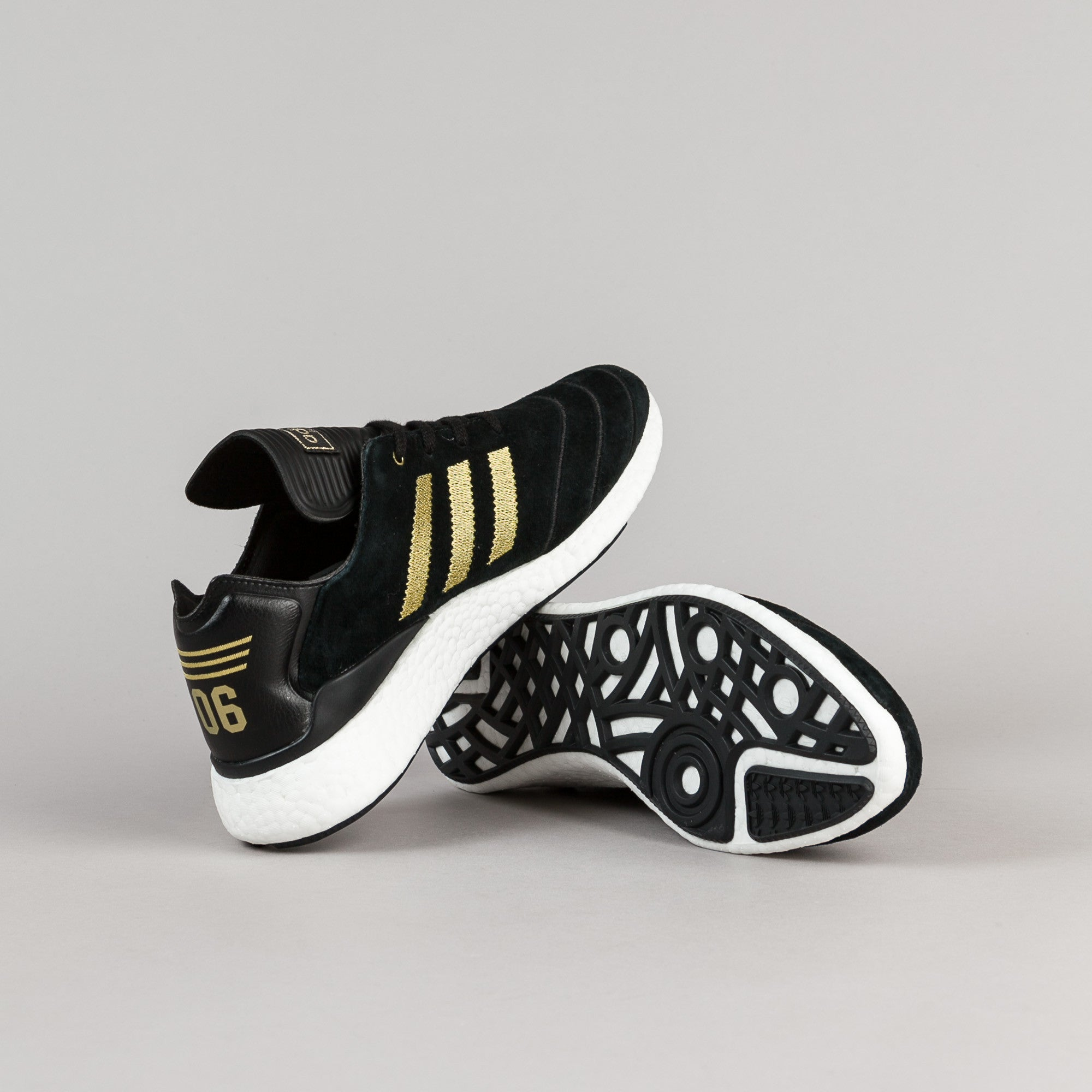 ... Adidas Busenitz Pure Boost 10 Year Anniversary Shoes - Core Black /  Metallic Gold / White ...