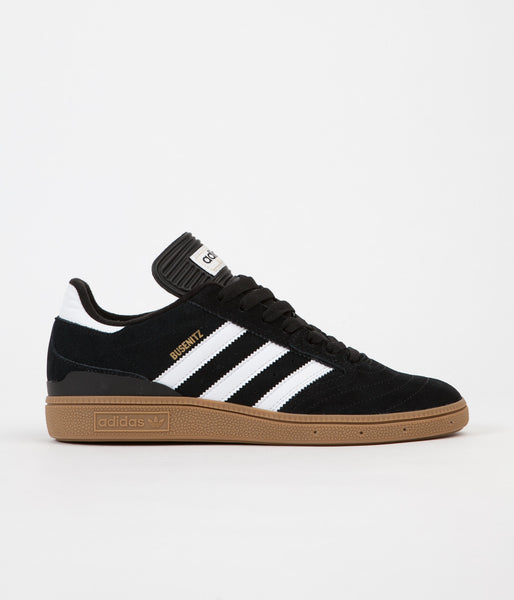 Adidas Busenitz Shoes - Black  Running White  Metallic Gold