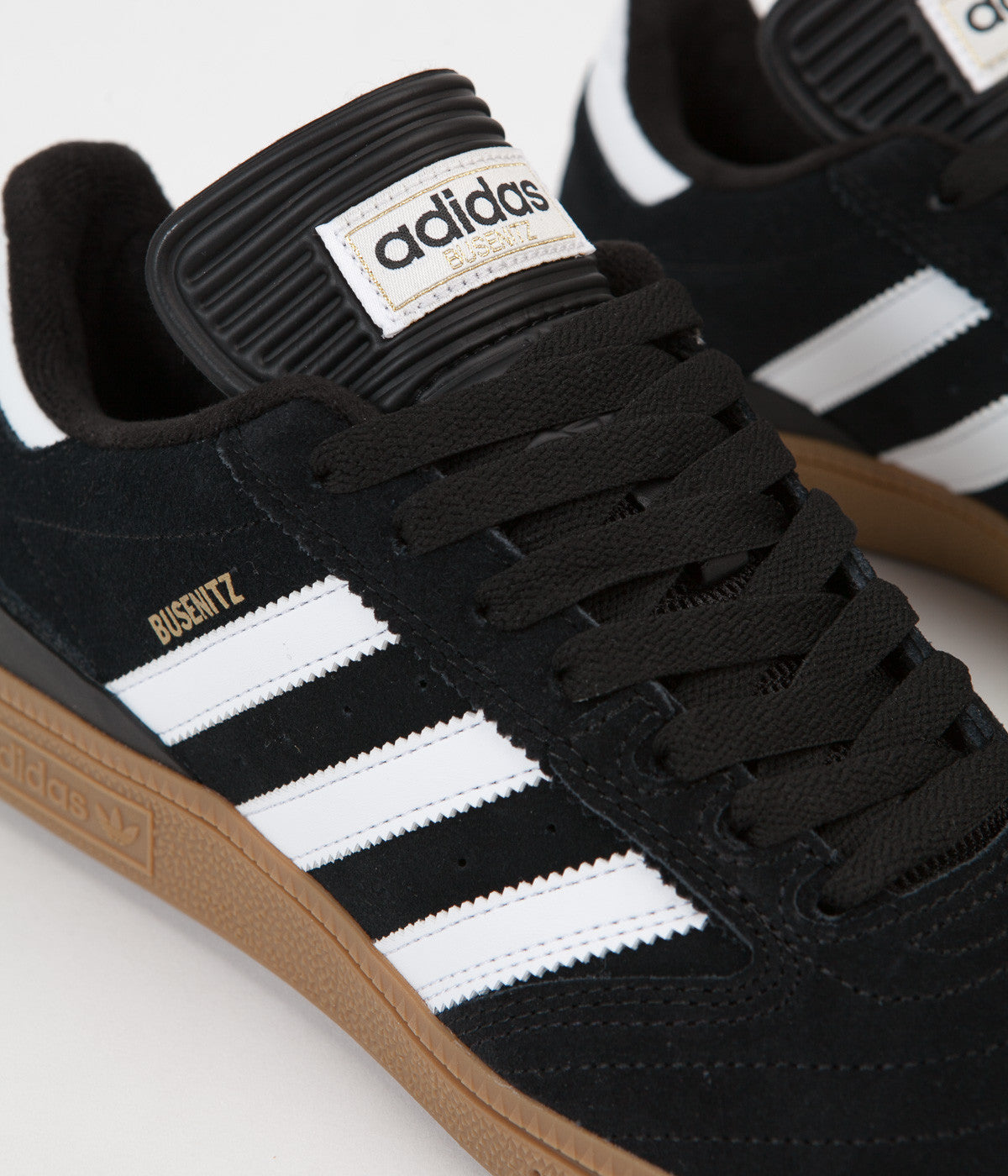 Adidas Busenitz Shoes - Black / Running White / Metallic Gold