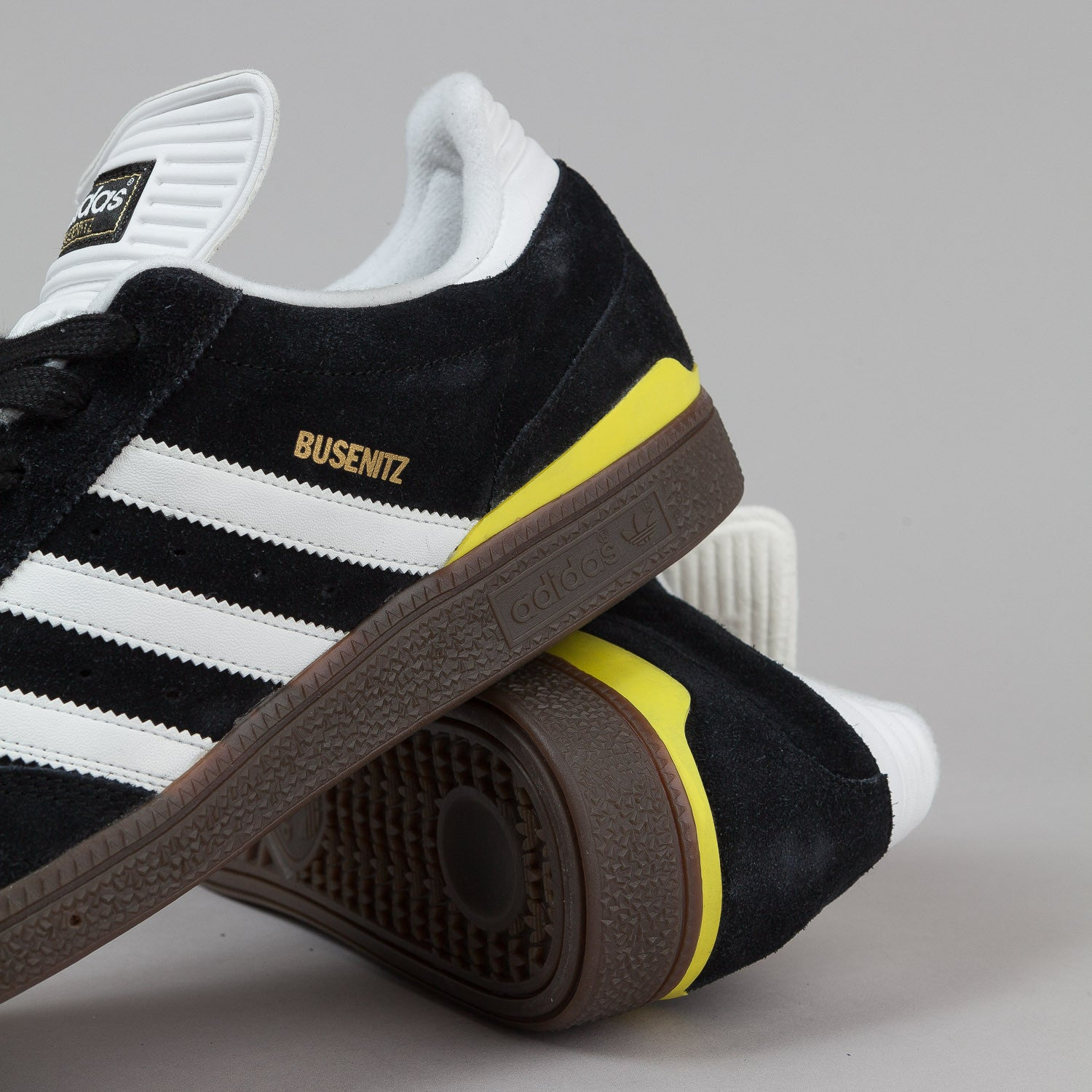 Adidas Busenitz Shoes - Black / White / Lemon Peel