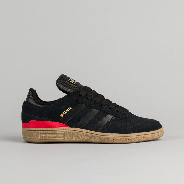 Adidas Busenitz Shoes - Core Black / Core Black / Scarlet