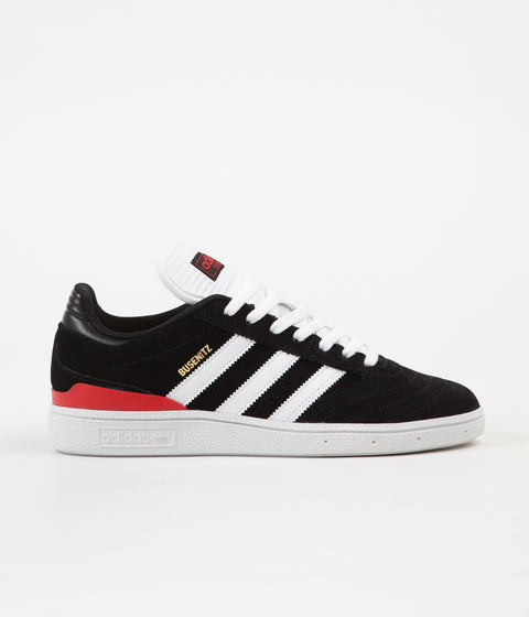 Adidas Busenitz Shoes - Core Black / FTW White / Scarlet