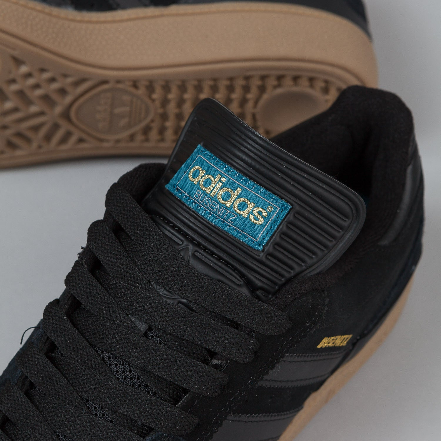 Adidas Busenitz Shoes - Core Black / Surf Petrol / Gold Metallic