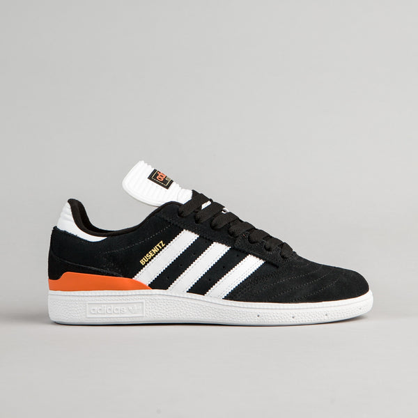 Adidas Busenitz Shoes - Core Black / White / Craft Orange | Flatspot