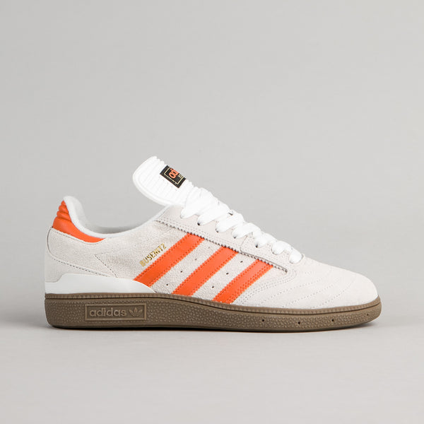 Adidas Busenitz Shoes - Crystal White / Craft Orange / Gum