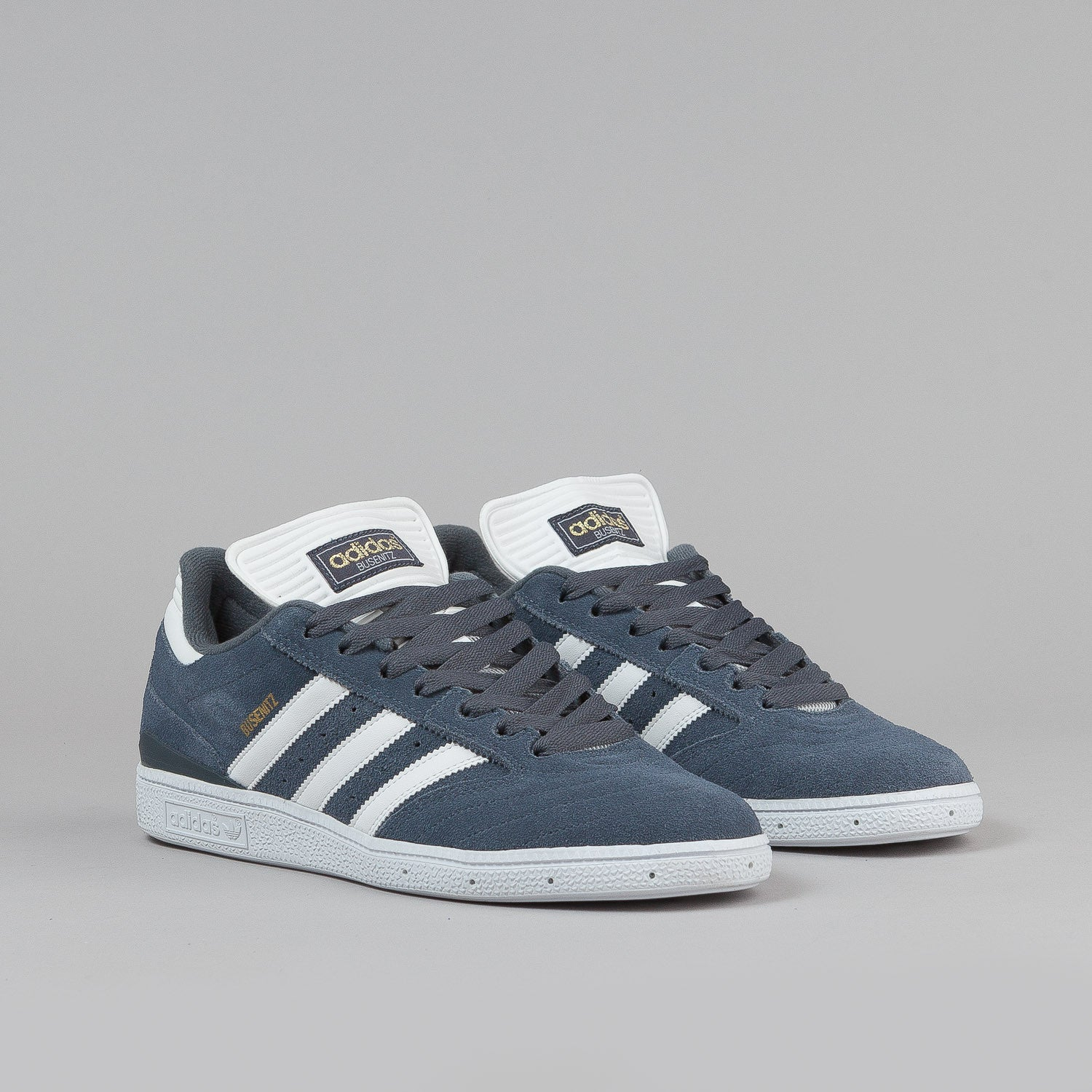 Adidas Busenitz Shoes - Dark Onyx / White / Metallic Gold
