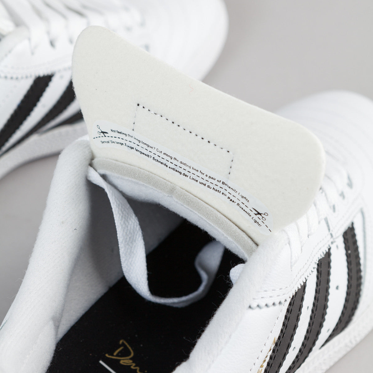 Adidas Busenitz Shoes - White / Core Black / Gold Metallic