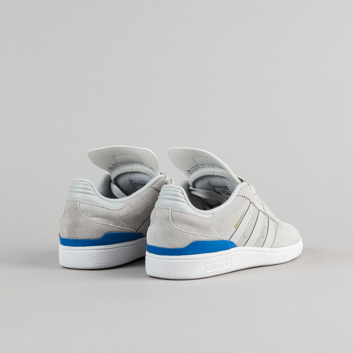 Adidas Busenitz Shoes - Solid Grey / Solid Grey / Bluebird