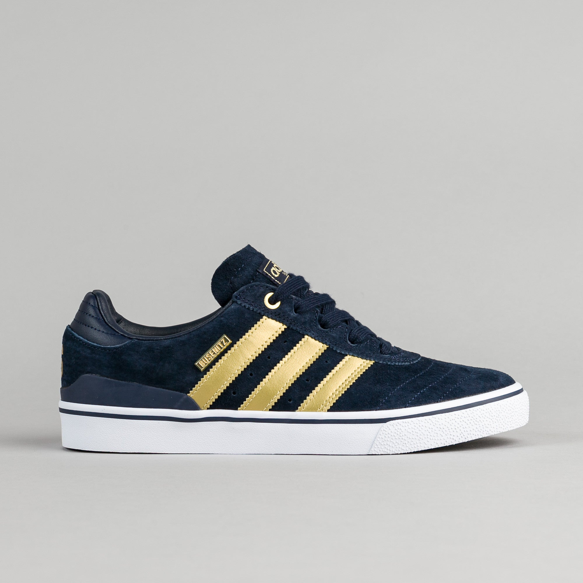 Adidas Busenitz Vulc ADV 10 Year Anniversary Shoes - Collegiate Navy / Metallic Gold / White