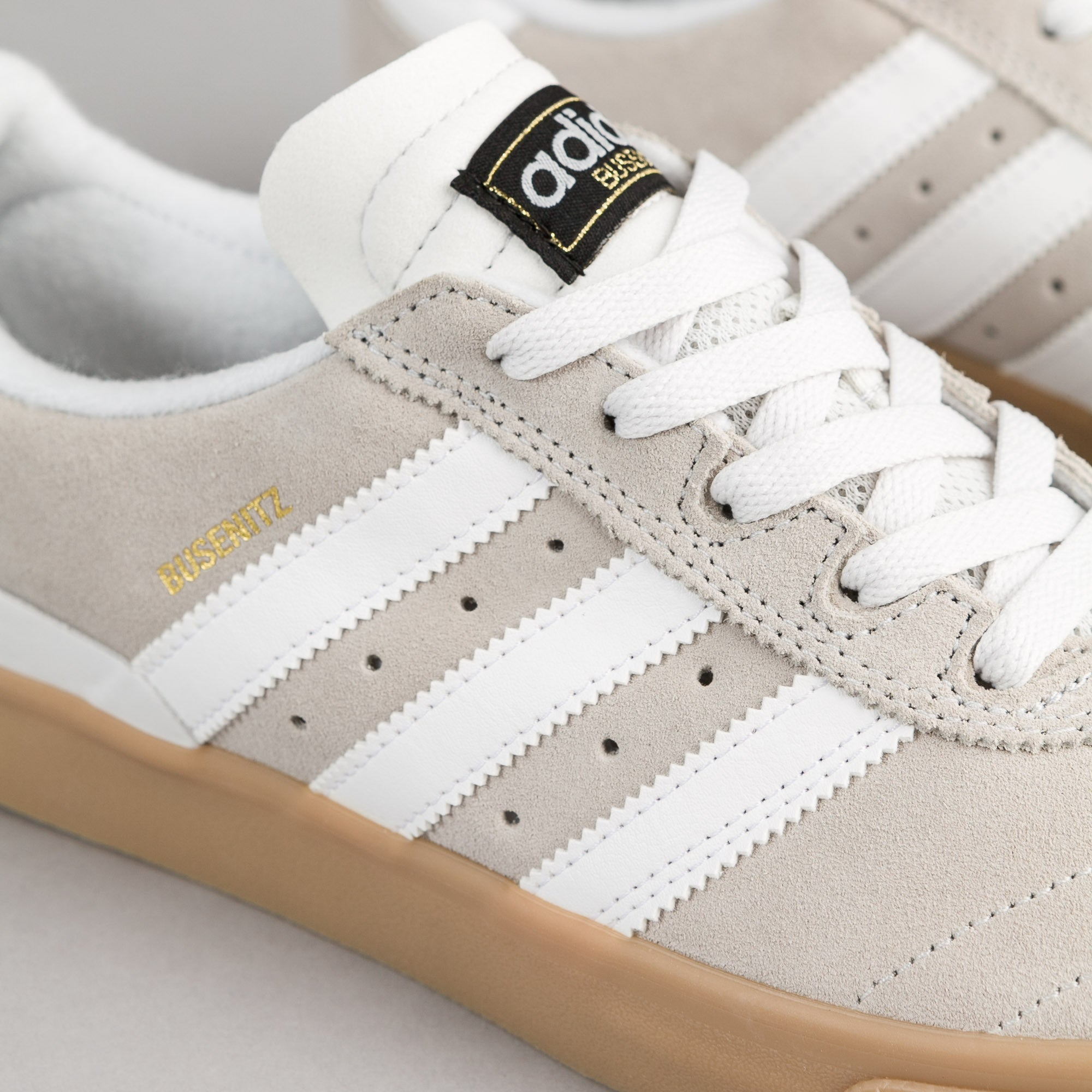 Adidas Busenitz Vulc ADV Shoes - Crystal White / Crystal White / Gum
