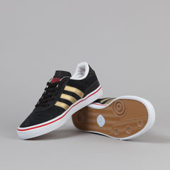 Adidas Busenitz Vulc Black1 / Metallic Gold / Light Scarlet