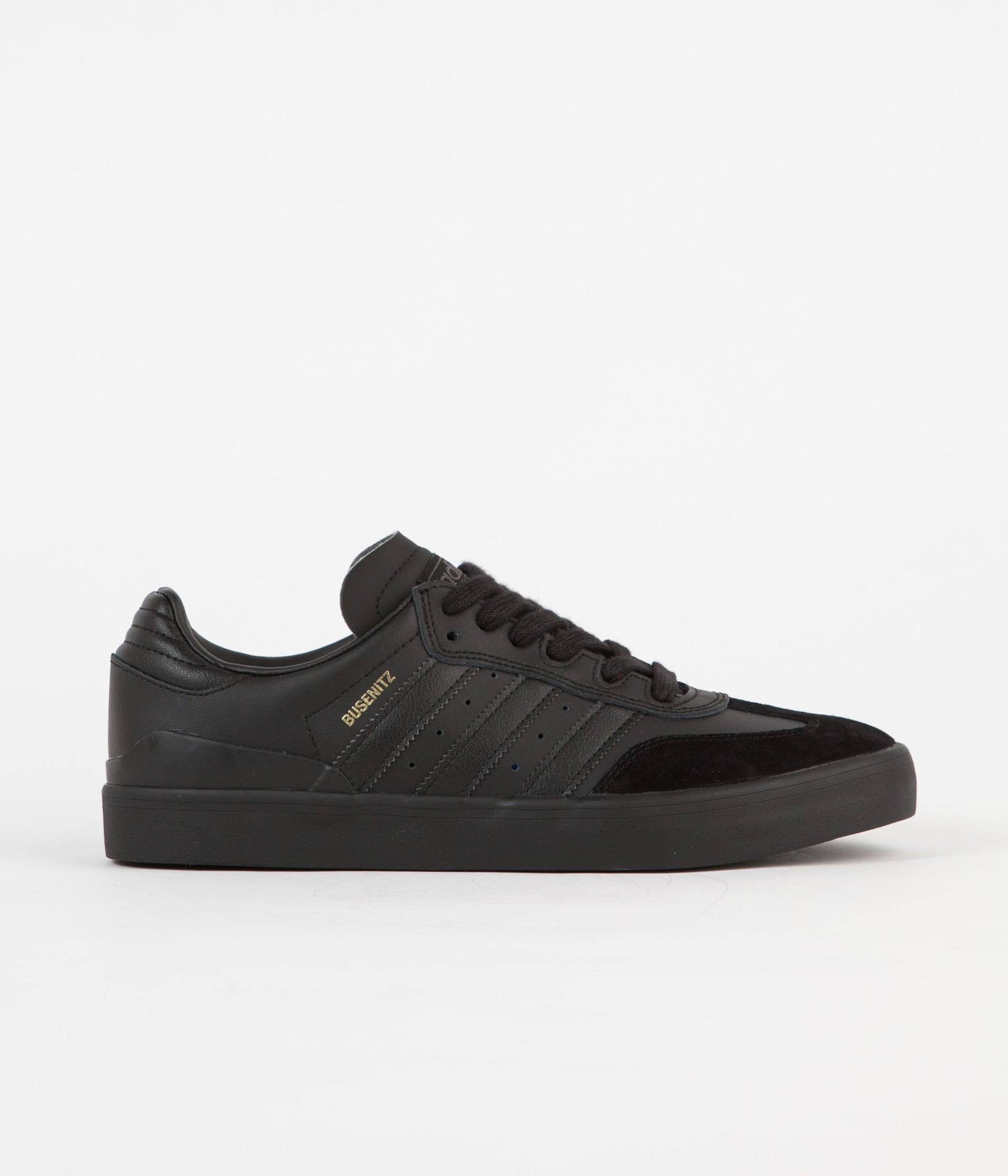 Adidas Busenitz Vulc Samba Edition Shoes - Core Black / Core Black / Solid Grey