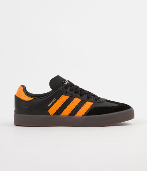 Adidas Busenitz Vulc Samba Edition Shoes - Core Black / Natural / Bright Orange