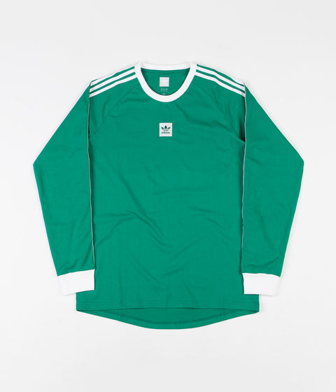 Adidas Cali BB Long Sleeve T-Shirt - Bold Green / White