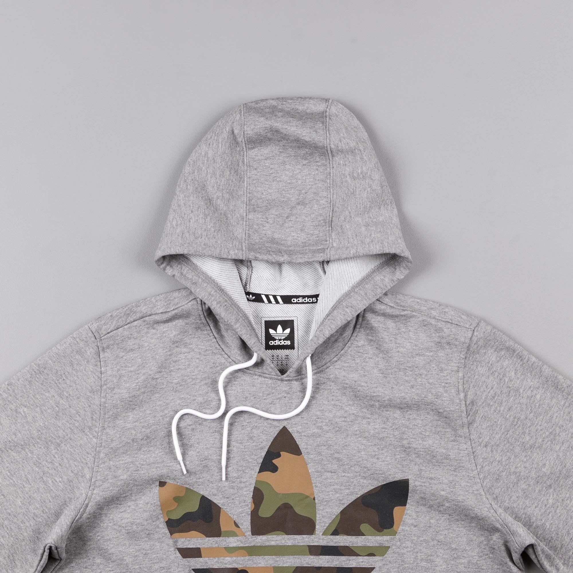 Adidas 3.0 Camo Hooded Sweatshirt - Core Heather
