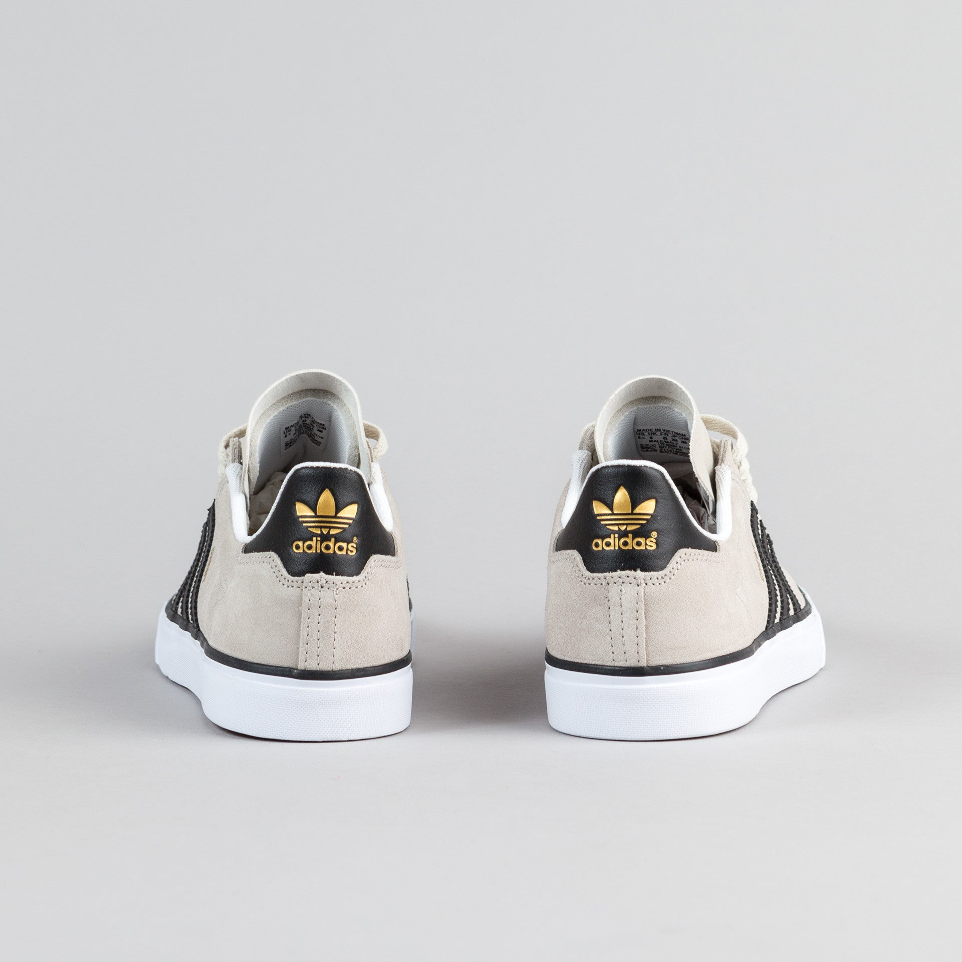 "Adidas Campus Vulc 2.0 ""Chewy"" Shoes - Mist Stone / Core Black / Gold Metallic"