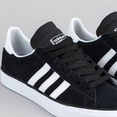 Adidas Campus Vulc 2.0 Shoes - Core Black / FTW White / Gum 3